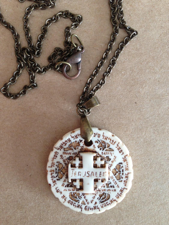 jerusalem cross pendant