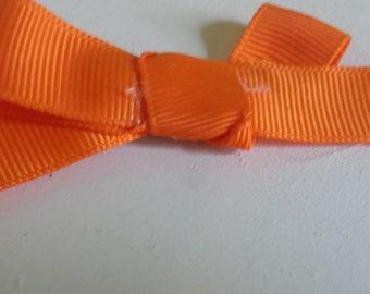 Handmade Orange Hair Bows