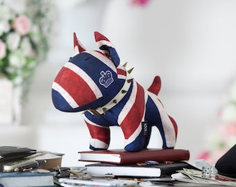 Churchill the Bull Terrier - English Bull Terrier designer toy, Bull Terrier Plush