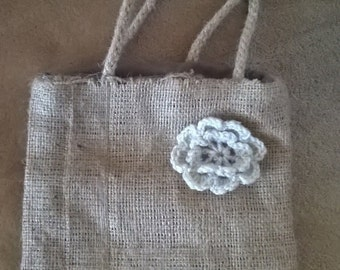 Child's/Toddler Rustic Burlap/Hessian Tote Shopper Bag