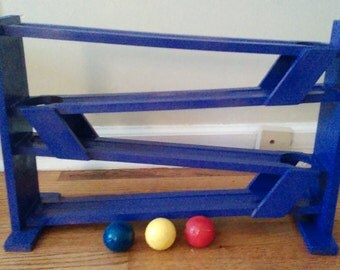Handmade ball tracks now in custom colors - purple, green. Any color you want!