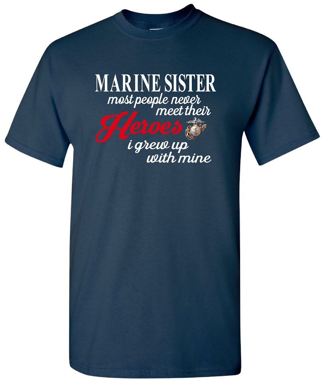 marine sister t shirt military tee shirt marine by. Black Bedroom Furniture Sets. Home Design Ideas