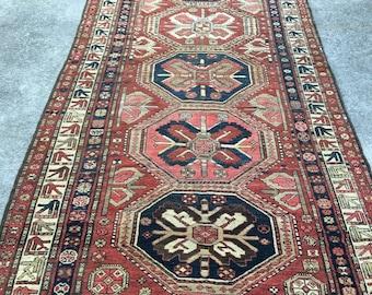 Antique Kasak Kazak Rug circa 1900 4.6' x 12.5' rare collectors item