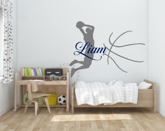 Nursery Wall Decals Boyu0027s Name Wall Decals Name Wall Stickers Basketball  Wall Stencils Sports Wall Decal Part 85