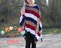 Ladies flowy poncho tunic