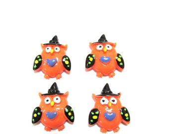 Halloween Owl Cabochons | Resin Flatback | DIY Supplies | Jewelry Supplies | Embellishments | Warehouse1711