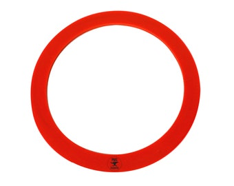 """3"""" Diameter Red Silicone Rubber Perforated Vacuum Casting Gasket - CAST-0083"""