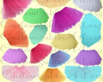 Tutu Clipart Tutu Clip Art Printable Tutu Digital Images Girls Tutu Skirt Clipart Digital Images Blue Purple Red Orange Green Pink Graphics