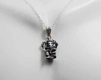 Ganesha necklace. sterling silver Ganesha pendant. Lord of Success. Hinduism. panchayatana puja. Hindu god. Ganesha charm necklace