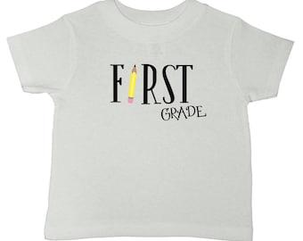 First Grade Shirt - Back To School Shirt - First Day Of School Tshirt - 1st Grade Shirt - First Grade Rocks - Girls School Tee - Boys School