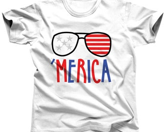 4th of July Shirt - Patriotic Shirt - Fourth Of July Shirt - American Flag Shirt - 4th Of July Outfit - Red White Blue - Independence Day