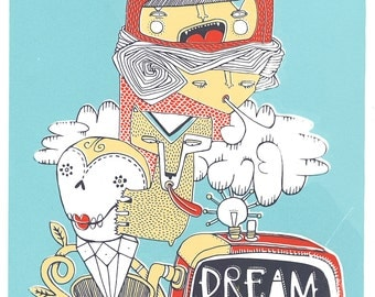 Dream Amplifier. Screen Print. Limited edition.
