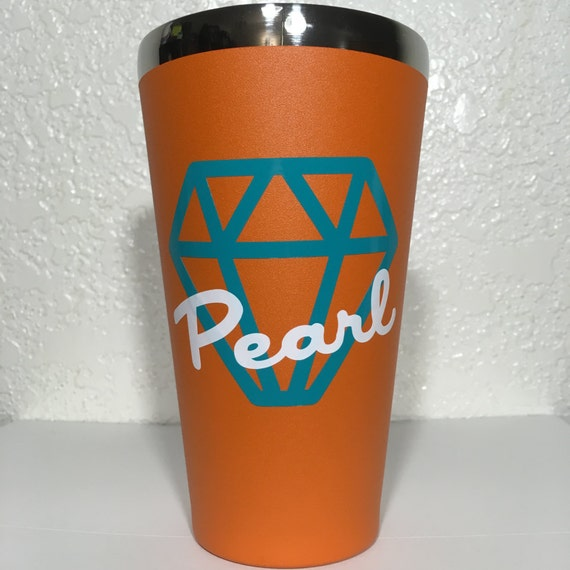 Hydro Flask Pint Personalized Diamond Jewel Icon And Name