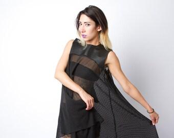Mesh Babydoll Dress // Black Fishnet Industrial Sheer Dress // VIXENSCREAM