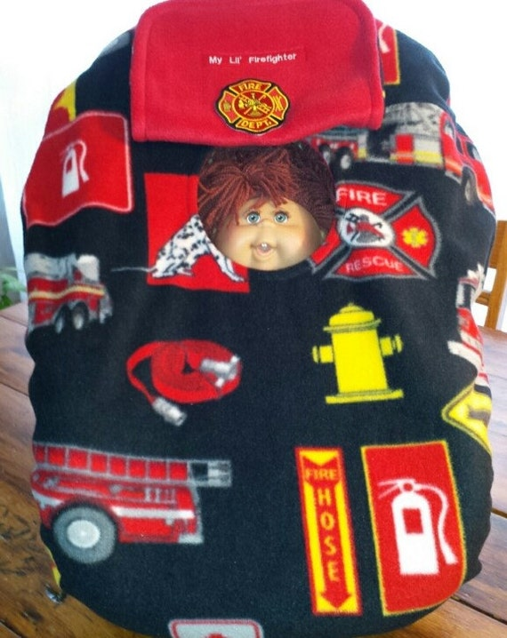 car seat cover up fire fighter trucks baby with patch n red. Black Bedroom Furniture Sets. Home Design Ideas