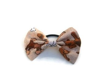 Dog Patterned Hair Bow | ponytail holder | hairbow | hairbows | hair accessories | hair tie | hair piece | dog hair piece | poodle bow