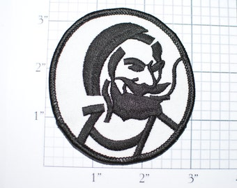 Captain Zig Zag Man, Iron-On Authentic 1970's Vintage Patch Tobacco Products Rolling Paper Jacket Patch Vest Patch Jeans Patch Hat Patch s19