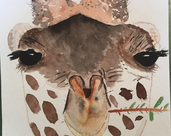 Happy Giraffe Painting