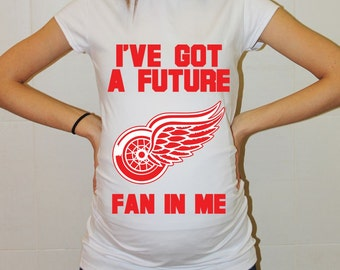 Detroit Red Wings Baby Detroit Red Wings Baby Boy Baby Girl Maternity Shirt Maternity Clothing Pregnancy New Baby Shower