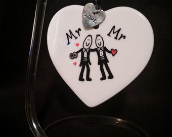 Mr and Mr,wedding gift ,gay gift, gift for gay wedding, wedding favor,gay marriage gift,gift for gay couple, 2 men, 2 guys
