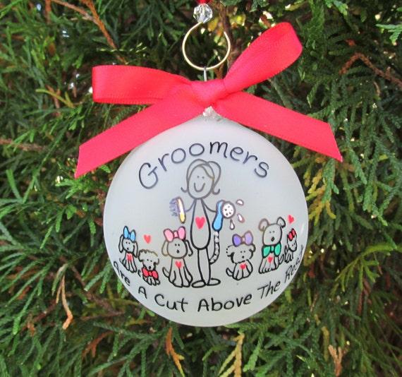 Adorable Dog Groomer Christmas Ornament
