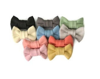 Baby Hair Clips - Baby Barrettes (Choose 3) - Baby Hair Bows - Mini Bows