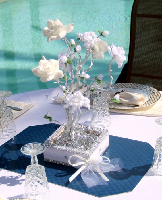 Inches white manzanita tree wedding centerpiece by