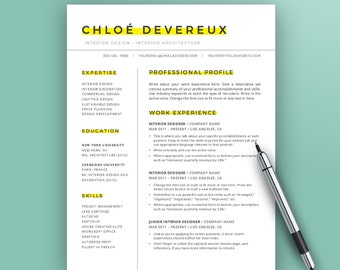 Creative Resume Template Instant Download | Word | CV Template Design |  Simple Resume Design |  Cover Letter And Resume Template