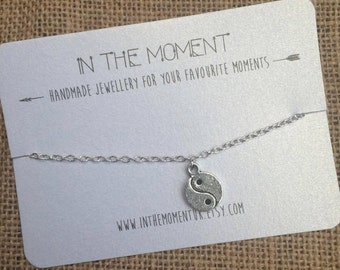 Yin Yang Bracelet, Yin Yang Anklet 5 Sizes, Chain Ankle Bracelet, Silver Bracelet, Hippie Anklet, Grunge Bracelet by InTheMomentUK