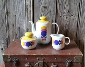 1970s Vintage Bavarian Coffee Tea Set  -  Kitsch Vintage German Coffee Set