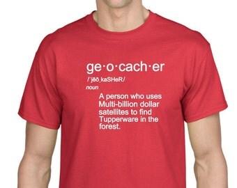 Geocacher definition geocache cache tshirt