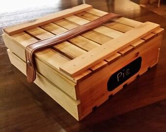 Wood Pie crate,Pie box,Pie safe,  carrier, casserole, cupcakes
