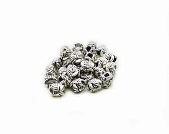 5mm Barrel Beads, Barrel Beads, Tiny Beads, Spacer Beads, Metal Beads, Jewelry Making, DIY Spacer Beads