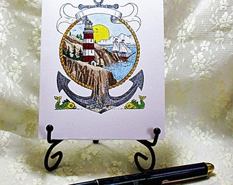 Lighthouse Card: Add a Greeting or Leave Blank