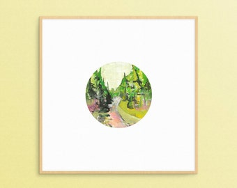 Original Painting, Watercolour Painting, Landscape Painting, Nature Art, Tree Art, Forest Art, Forest Painting, Nature Painting, Gouache