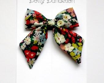 Girls Hair Bow - Liberty Hair Bow - Girls Hair Clip