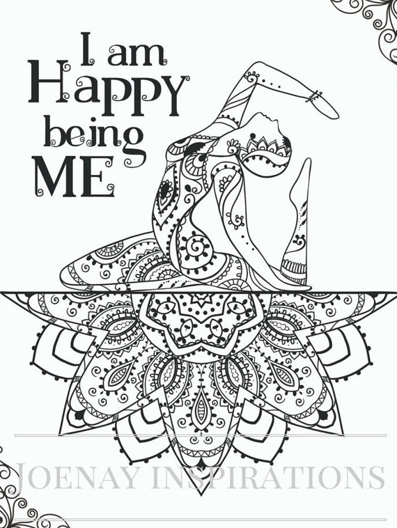 Adult Coloring Book Printable Coloring Pages, Coloring Pages, Coloring Book for Adults Instant Download Inspiration and Affirmation 1 page 1
