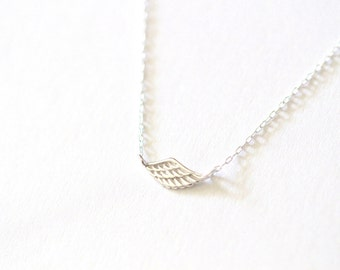 Angel Wing Necklace, Sterling Silver Angel Wing Necklace, Silver Wing Necklace, Angel Necklace, Charm Necklace, Dainty Necklace