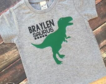 Boy's Dinosaur Shirt, Dinosaur Tee, T-Rex Shirt, Rex Shirt, Saurus Shirt, Dinosaur Birthday, Dinosaur Party, Personalized Dinosaur Shirt