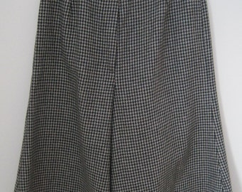 GAUCHOS, Black & White Houndstooth, Wool, Vintage
