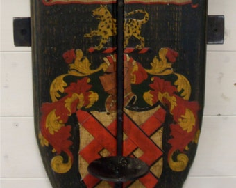 Wall Plaque/Candle Holder/Hook. Any coat of arms or motif of choice.