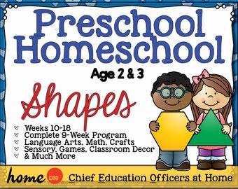 Homeschool Preschool Shapes Units (9 Weeks)