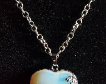 Heart with Rose necklace