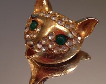 Fox Pin/Brooch with Stones