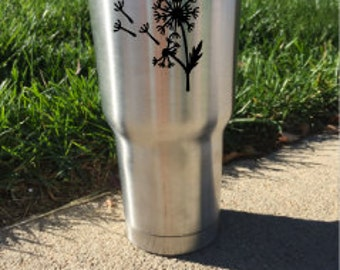 30oz. RTIC Tumbler With Dandelion Decal