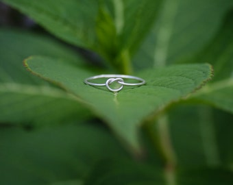 Sterling Silver Knot Ring, Simple Silver Knot Ring, Delicate Sterling Silver Ring, Minimalist Knot Ring, Minimalist Silver Ring, Knot Ring