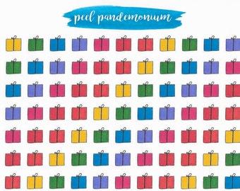 Mini Rainbow Present Doodle Planner Stickers