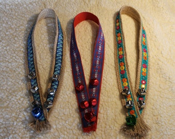 Bespoke collars with bells for donkeys, mules and small ponies