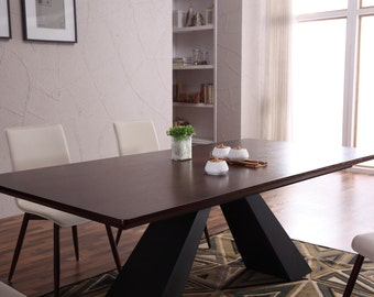 Mario wooden dining Table + 6 dining chairs