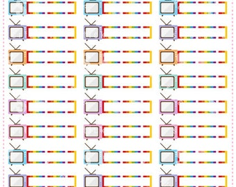 TV show Planner Stickers for Erin Condren, Happy Planner, Passion Planner (#04)